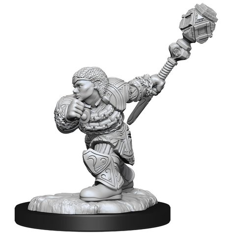 MTG UNPAINTED MINIS DWARF FIGHTER/CLERIC