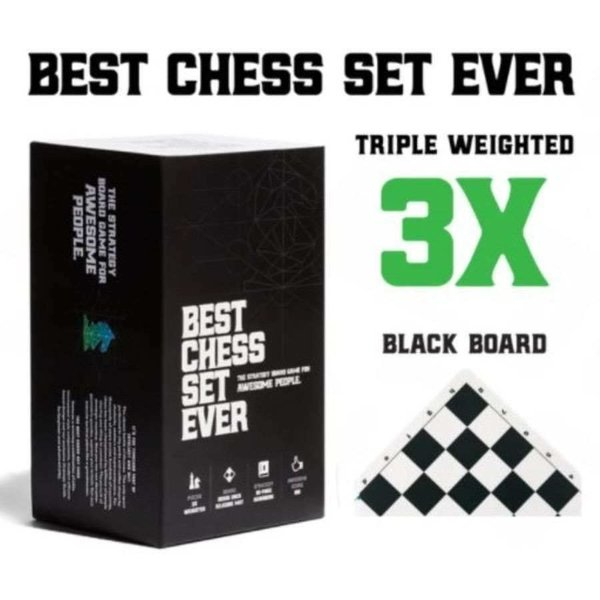 Best Chess Set Ever Best Chess Set Ever (Black) - Le Meilleur Jeu d'Échec (Noir)