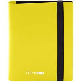 Ultra Pro UP BINDER PRO ECLIPSE 4PKT LEMON YELLOW