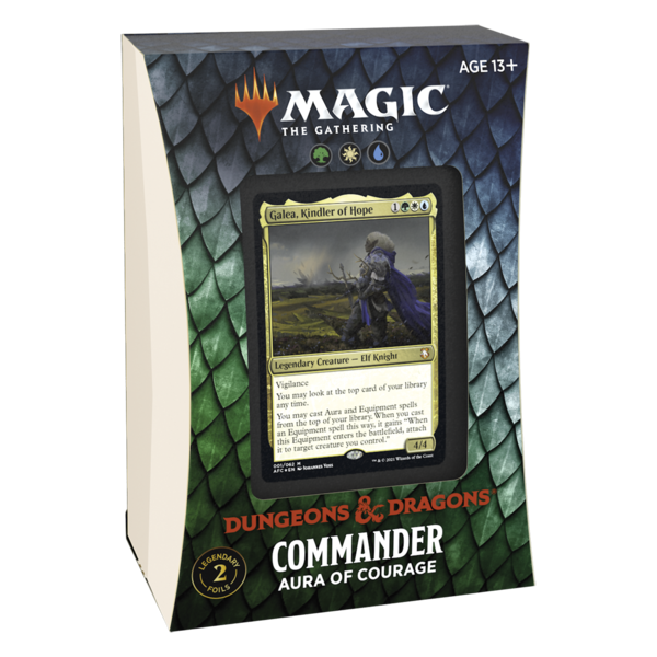 Wizards of the Coast MTG ADV FORGOTTEN REALMS COMMANDER DECK - Aura of Courage