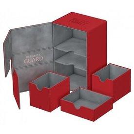 Ultimate Guard UG TWIN FLIP N TRAY DECK CASE XENOSKIN RED 160+