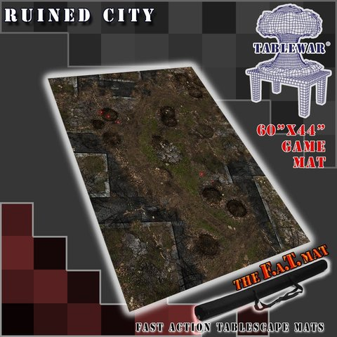 "F.A.T. MATS: RUINED CITY 60""X44"""