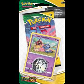 POKEMON POKEMON SWSH7 EVOLVING SKIES CHECKLANE BLISTR ( Galarian Slowpoke Promo Card)