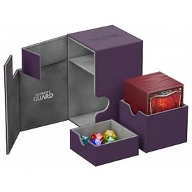 Ultimate Guard Related Products UG FLIP N TRAY DECK CASE XENOSKIN PURPLE 100+