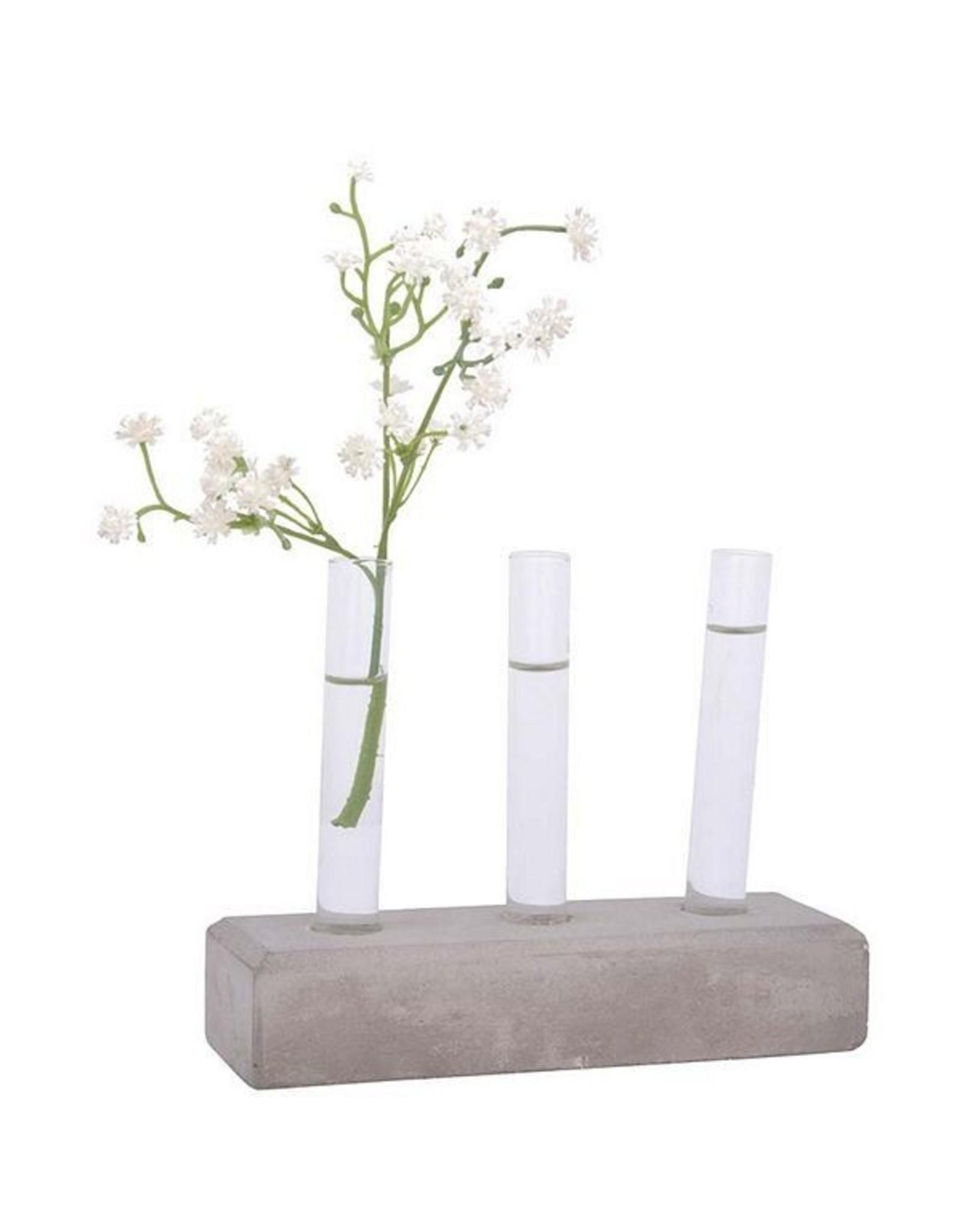 Esschert Cuttings Tubes Concrete Base - Set of 3