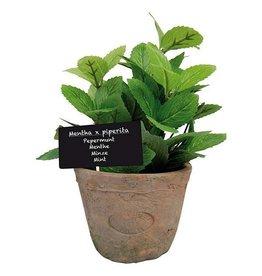 Esschert Artificial Mint in Aged Terra Cotta Pot - 18cm