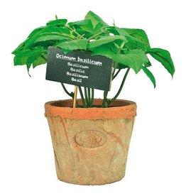 Esschert Artificial Basil in Aged Terra Cotta Pot - 19cm