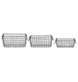 Esschert Wire basket rectang set/3