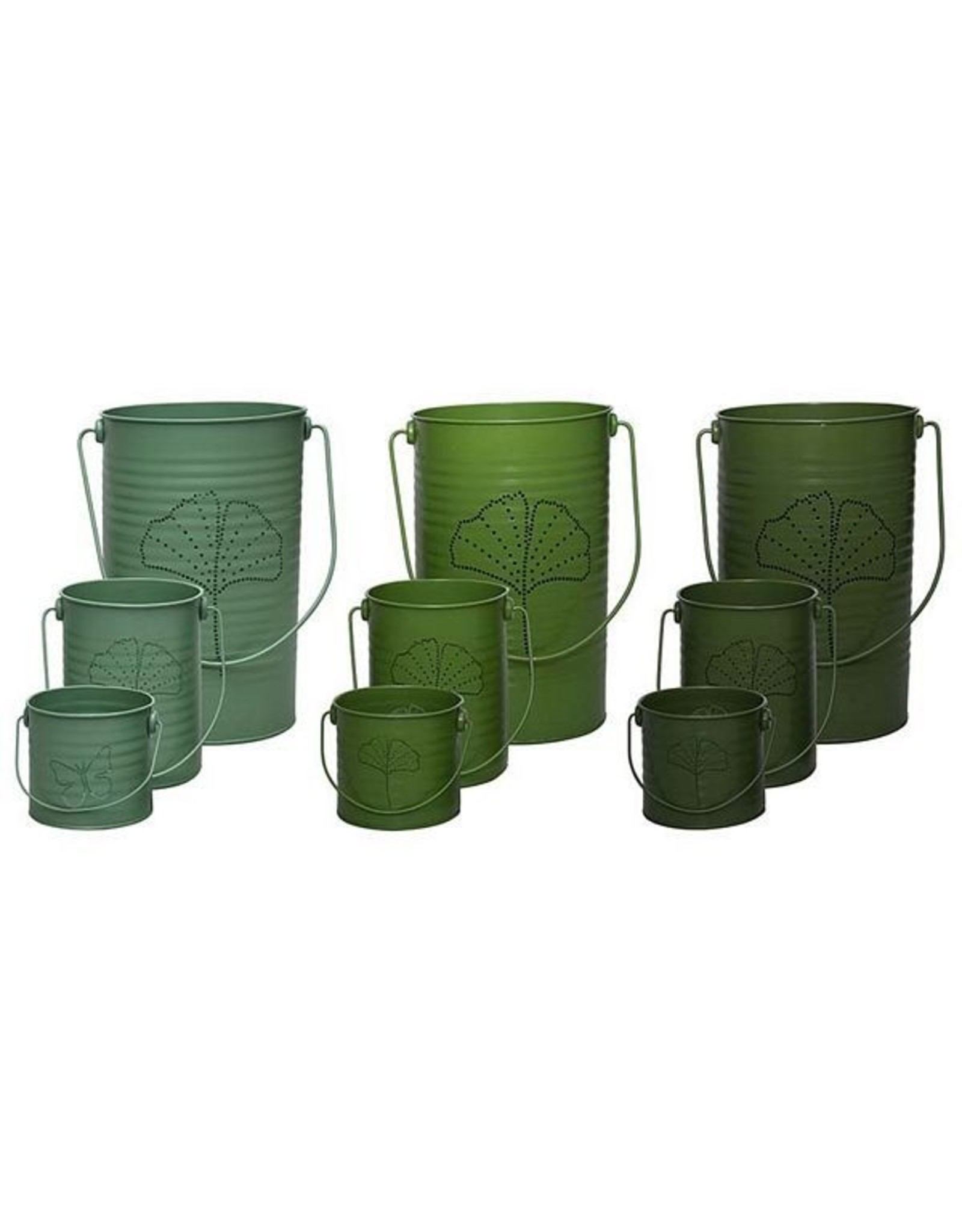Esschert Green Windlight Set/3 3/Assorted