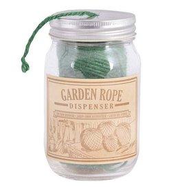 Esschert Rope in Jar dispenser. Glass