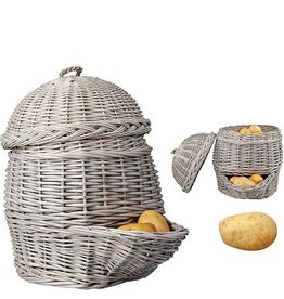 Esschert Potato basket grey. Willow