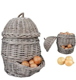 Esschert Onion basket grey. Willow