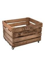 Esschert Apple crate wood with wheels