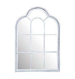 Esschert Metal Roman Mirror - White and Glass