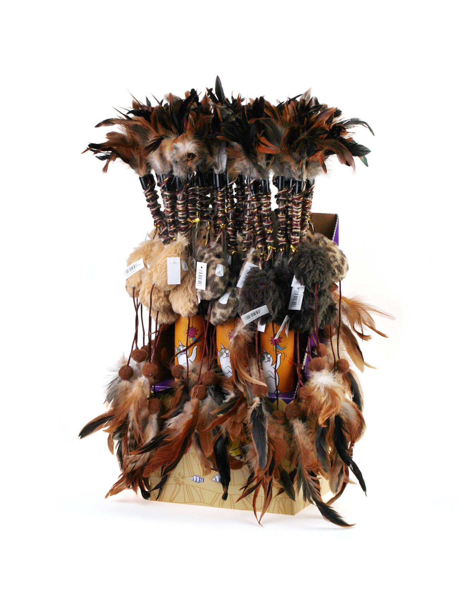 Cat Toys - Feather Dangler 46cm
