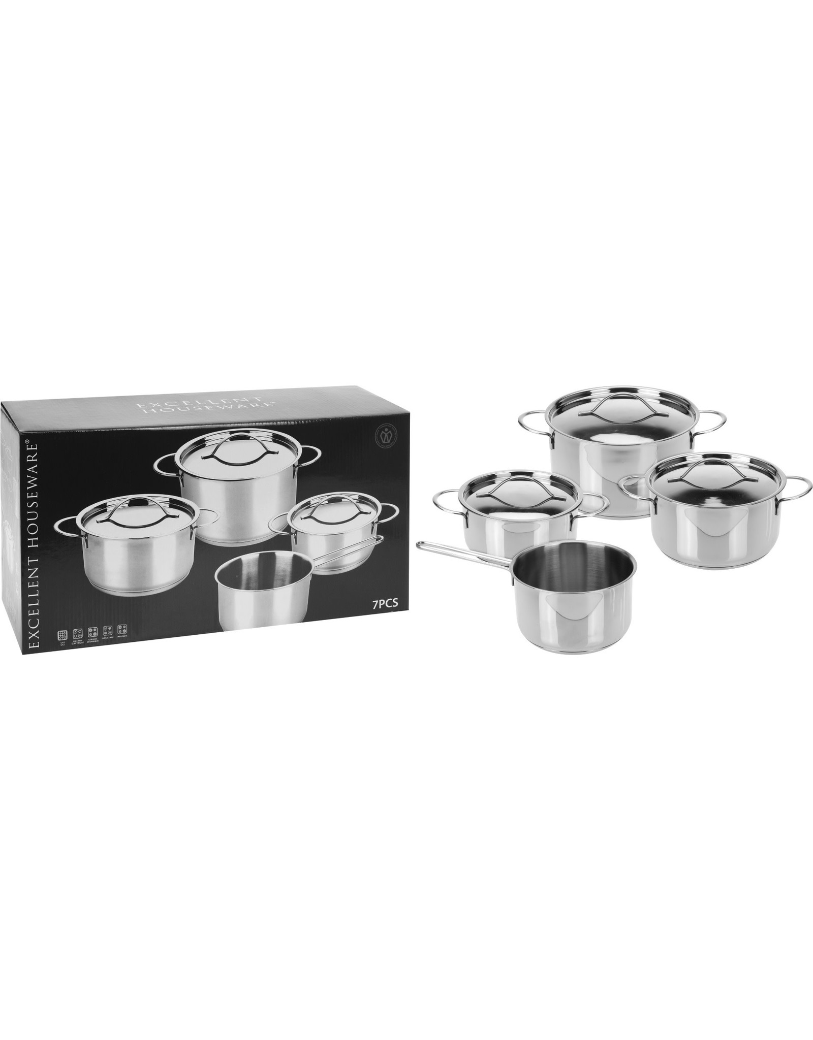 Cooking pans - Stainless - 7pcs