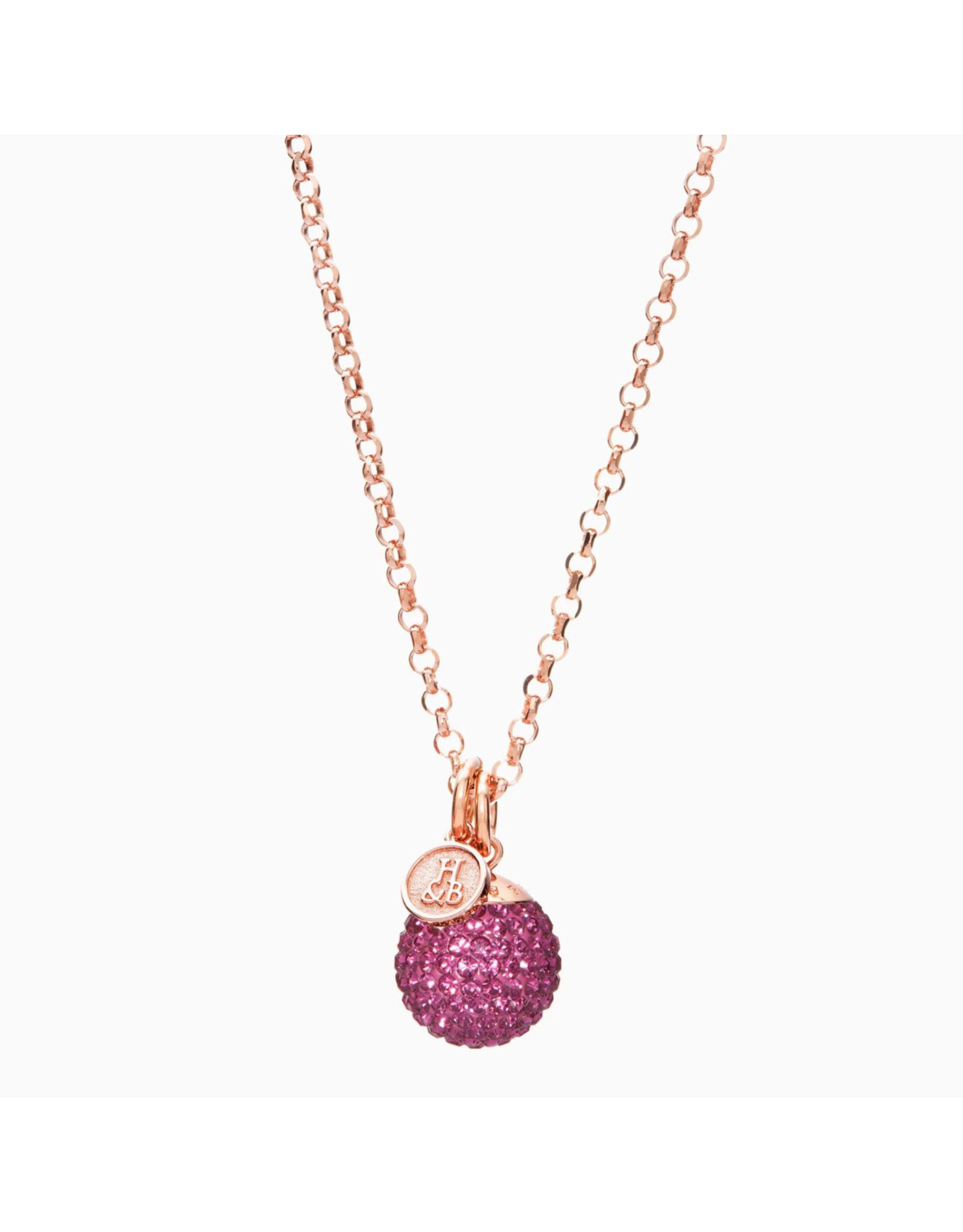Hillberg & Berk H&B - Sparkle Ball Convertible Long Necklace Pendant