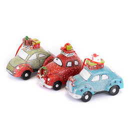 car with present on top 12cm
