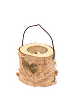 candleholder wood 8x8cm 4 assorted