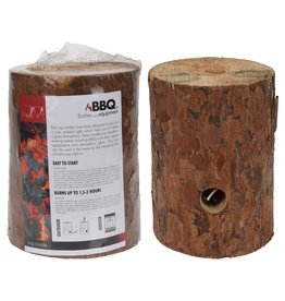 Log Candle Wood h20xd15cm