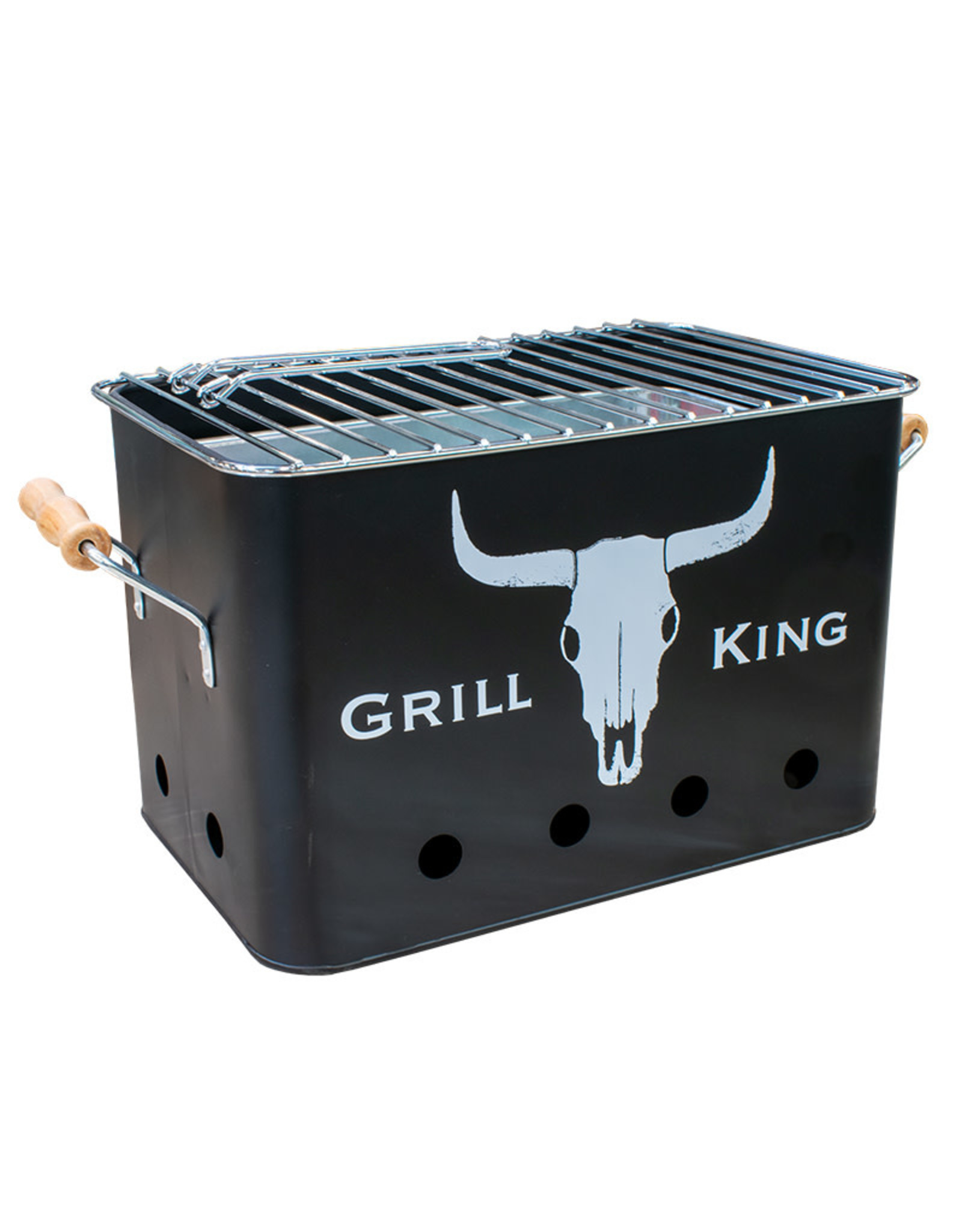 Grill King Grill King - Portable bbq rectangular with grips
