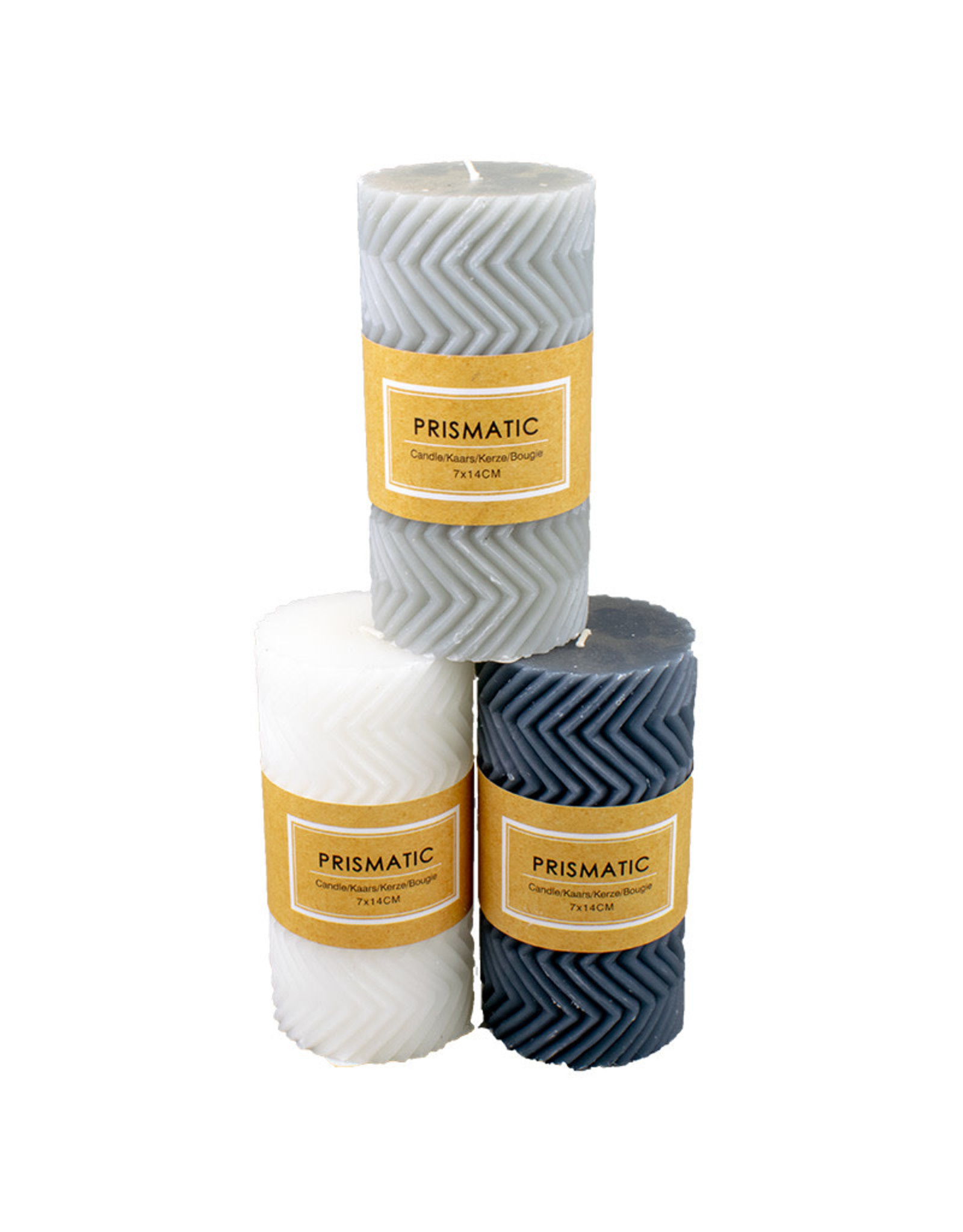 Candle Pillar Relief - 3 assorted