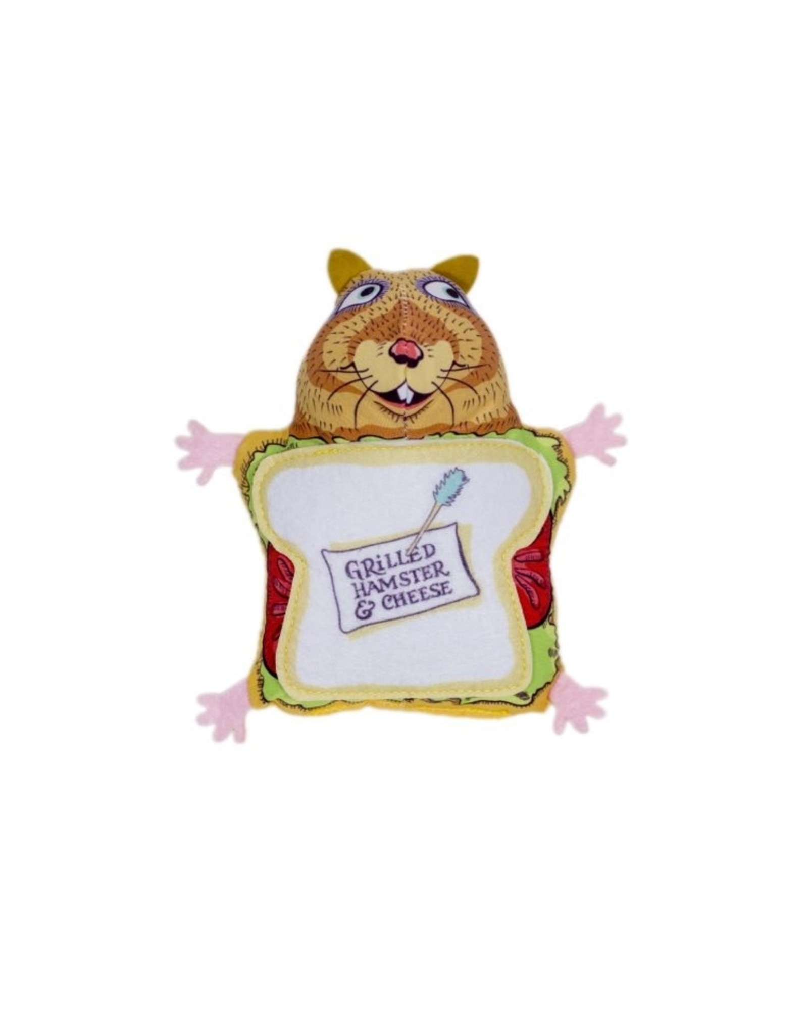 Fluffys Snack Bar Grilled Hamster and Cheese Cat Toy