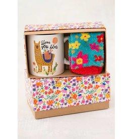 Natural Life Llama Llove Mug & Sock Gift Set