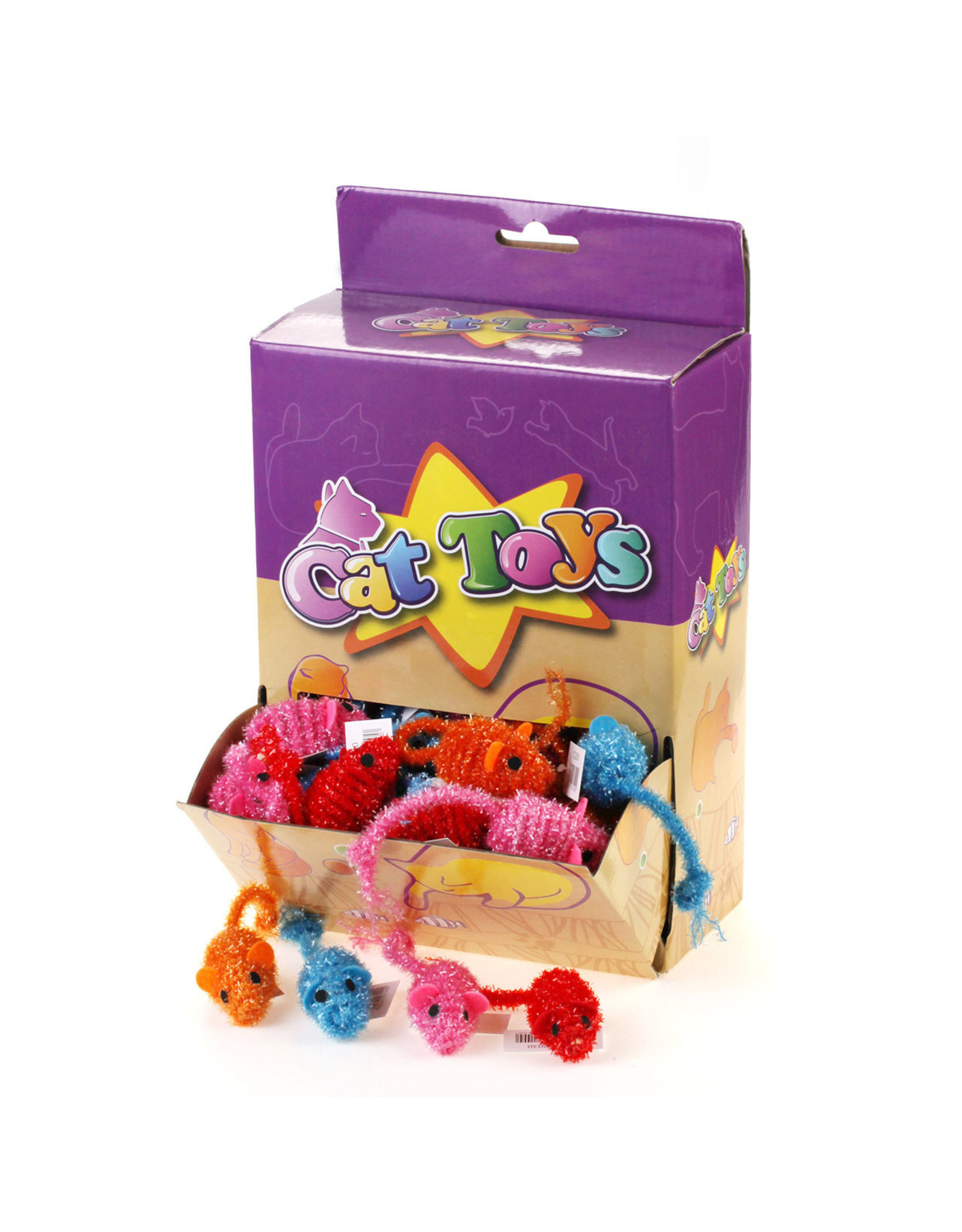 Cat Toys -Knitted Mice Asst