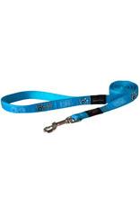Rogz Fanbelt Lead - Turquoise Paw 6ft