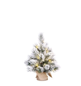 Dinsmore X-mas Tree LED w/burlap green frosted