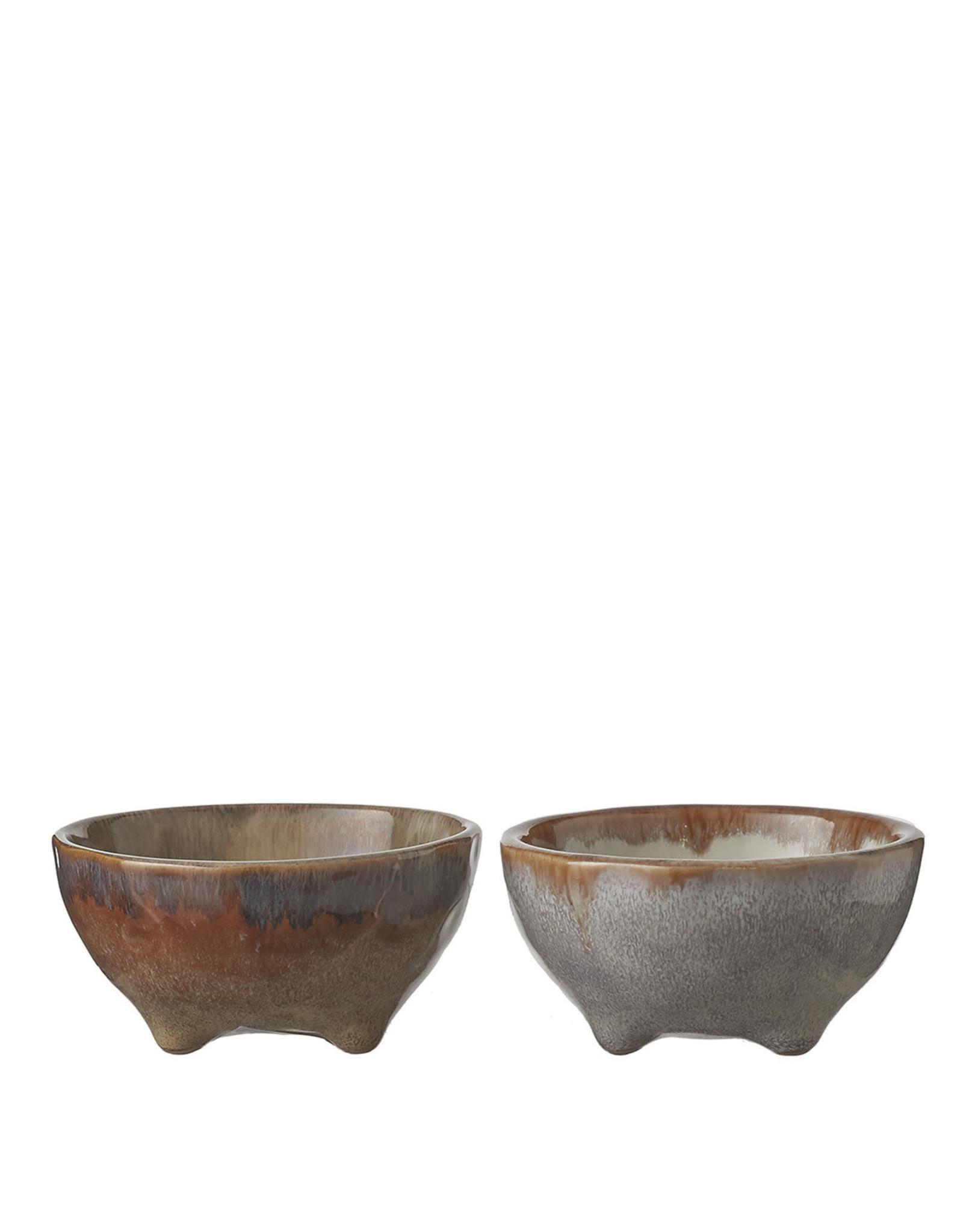Eva Bowl Taupe/Blue 2 Assorted - h4,5xd9cm