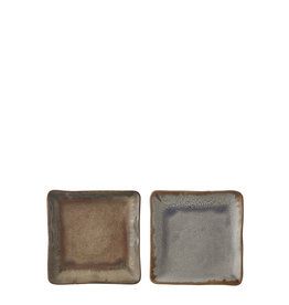 Eva plate taupe blue 2 assorted - l13,5Xw13,5Xh2cm