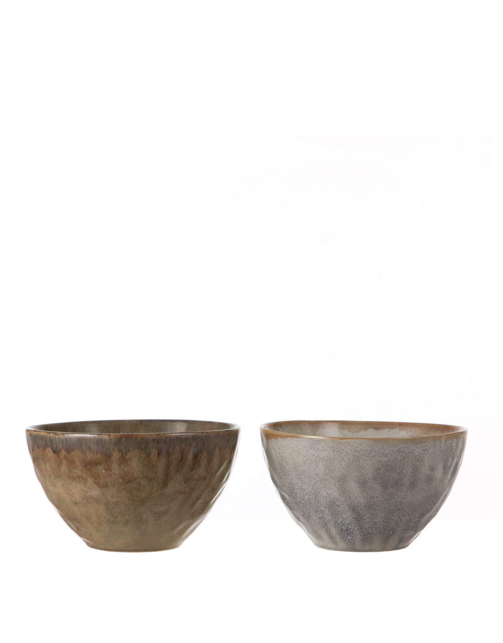 Eva bowl taupe blue 2 assorted - h10xd17,5cm