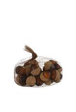 Acorn brown 20 pieces - l18xw18xh10cm