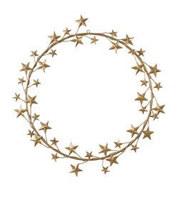 Walldecoration Star Gold