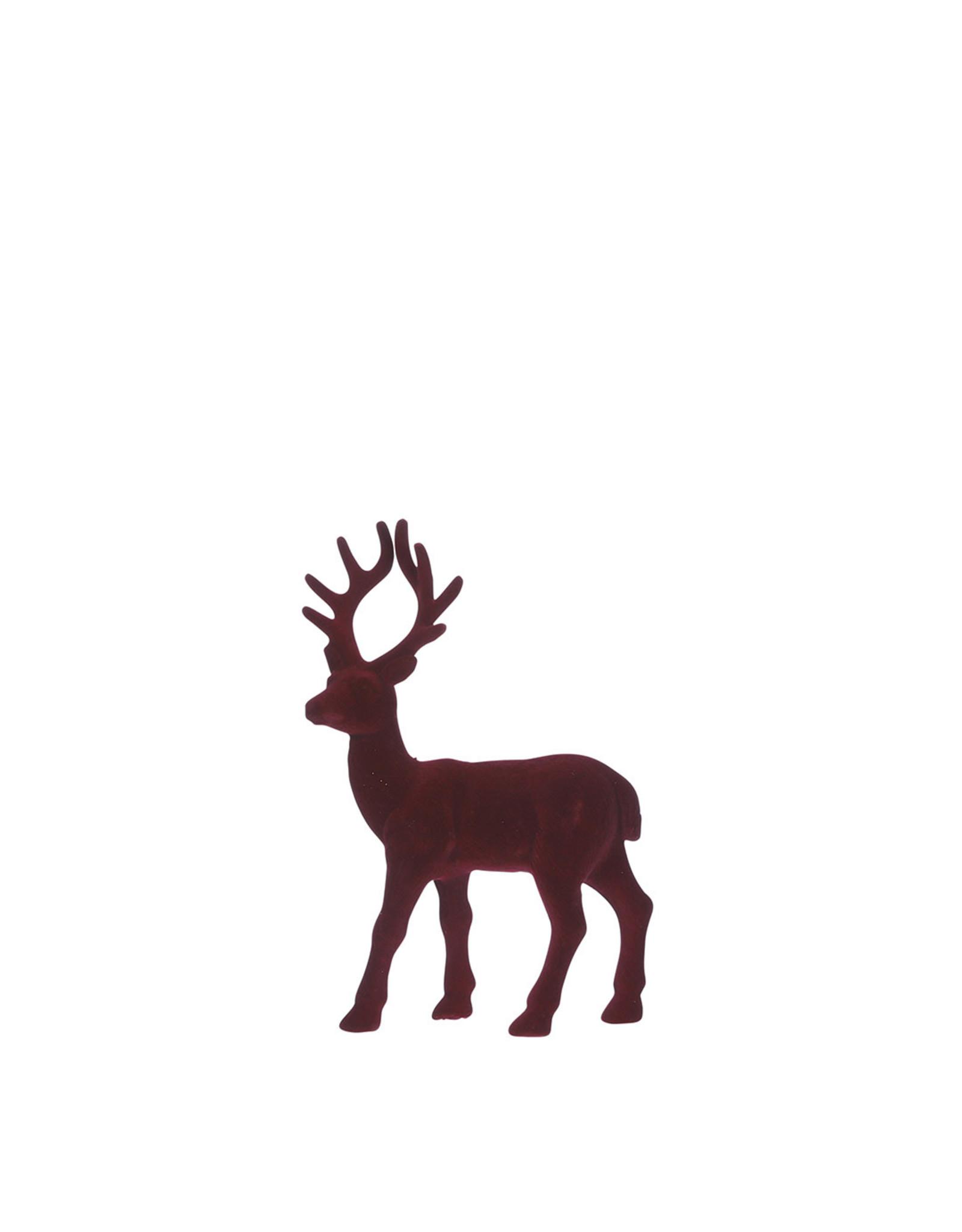 Deer d. red - l14xw4.5xh21cm