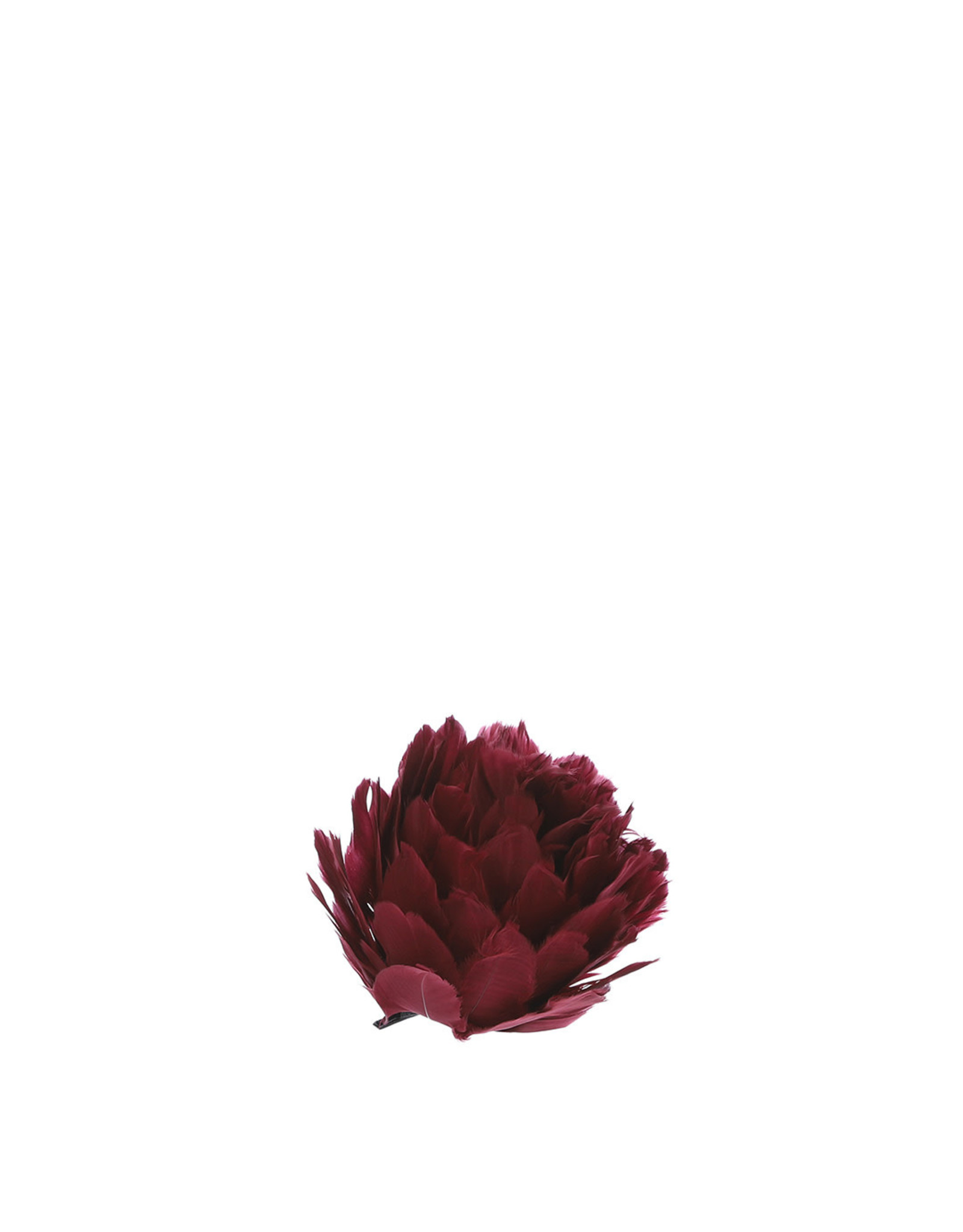 Clip Feathered Flower  - h8xd12cm