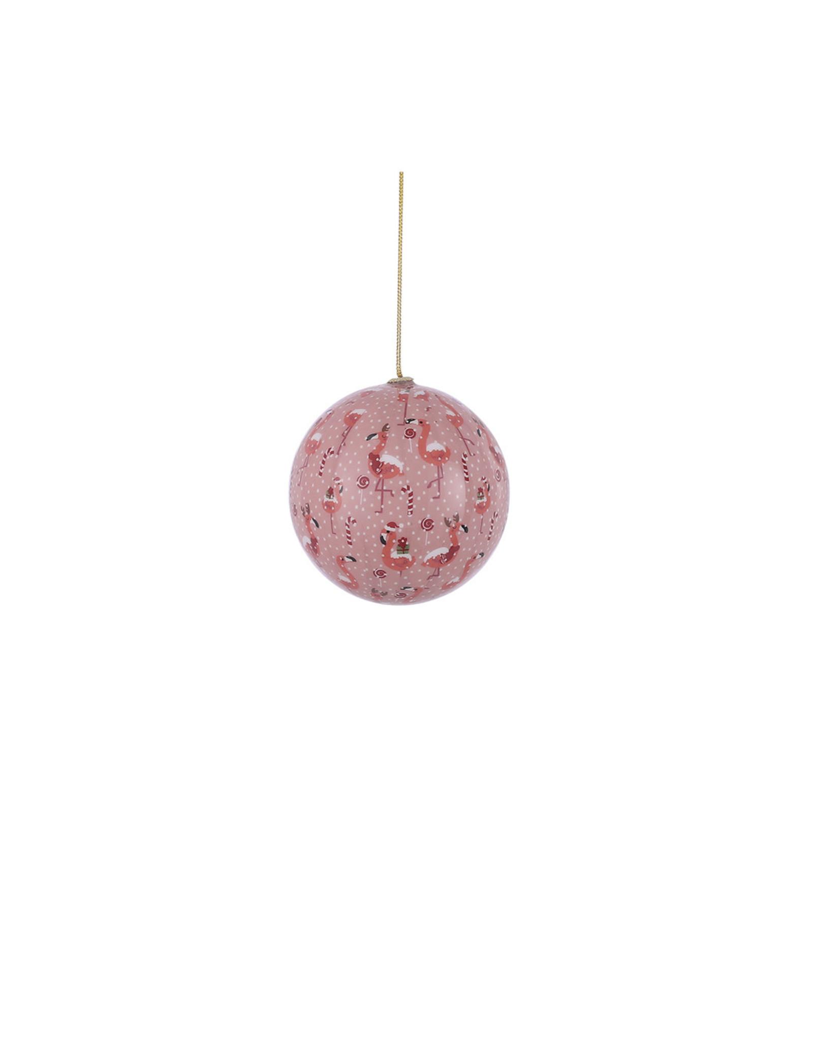 Bauble unbreakable flamingo pink - d10cm
