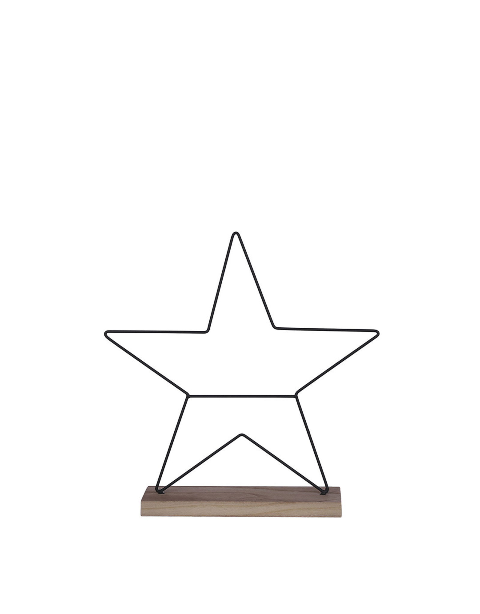 Decoration star black - w8xd38cm