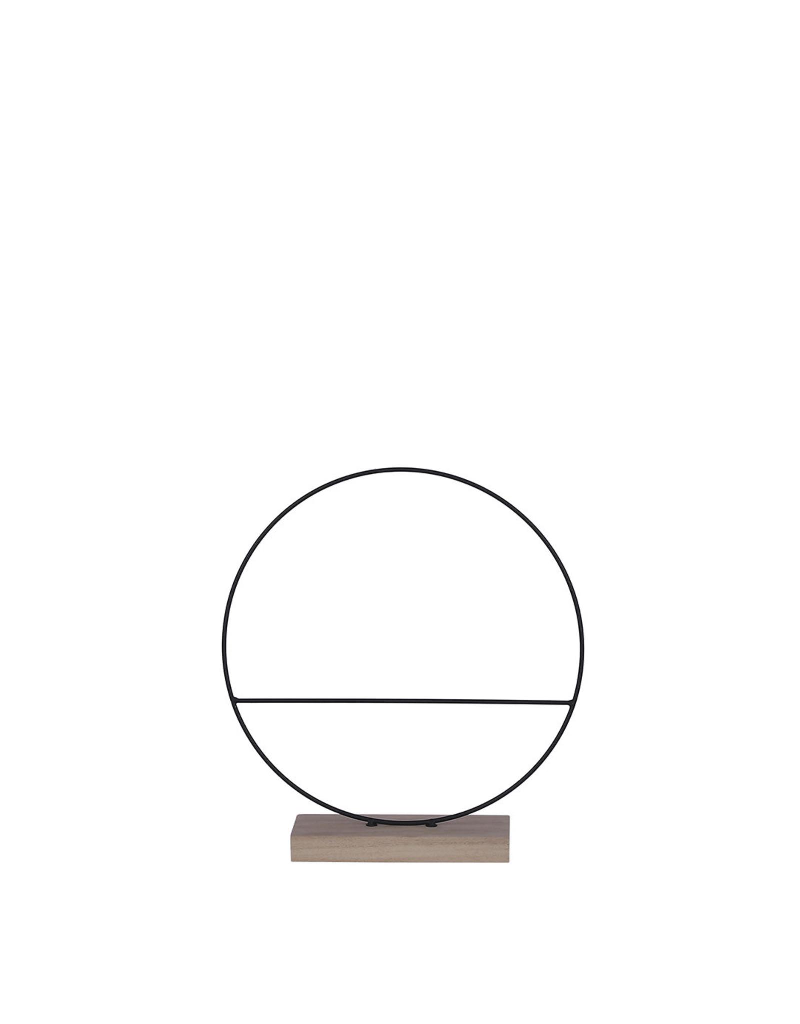 Decoration circle black - w7xd30cm