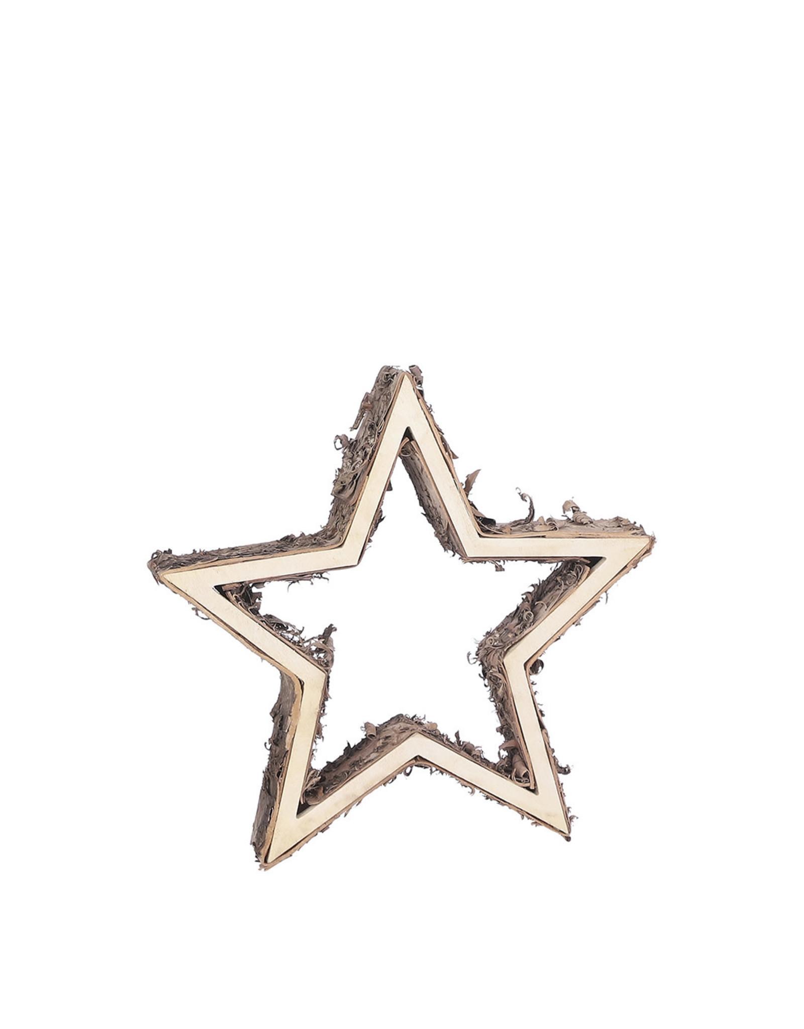 Decoration star brown - h5xd37cm