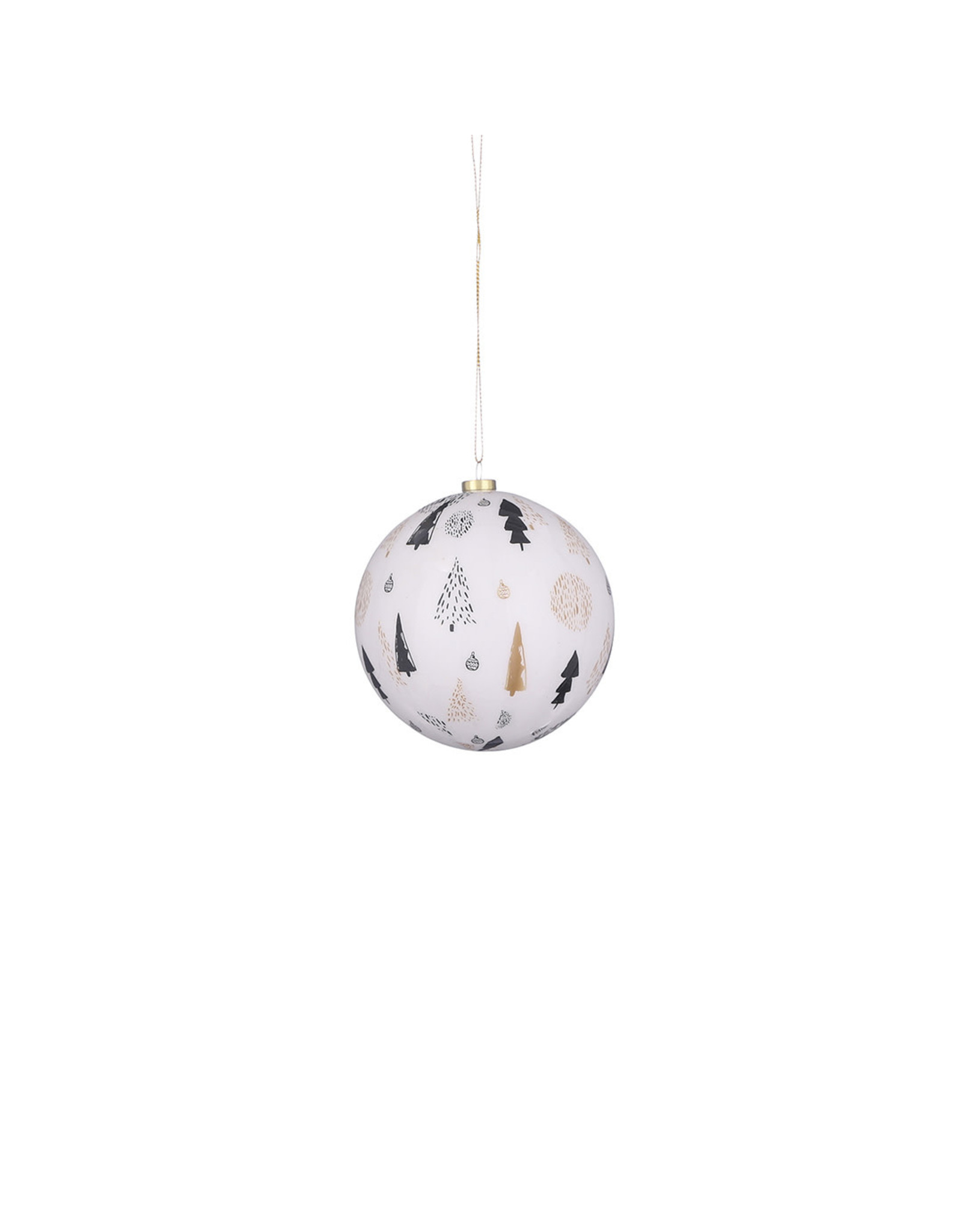 Bauble unbreakable tree white - d10cm