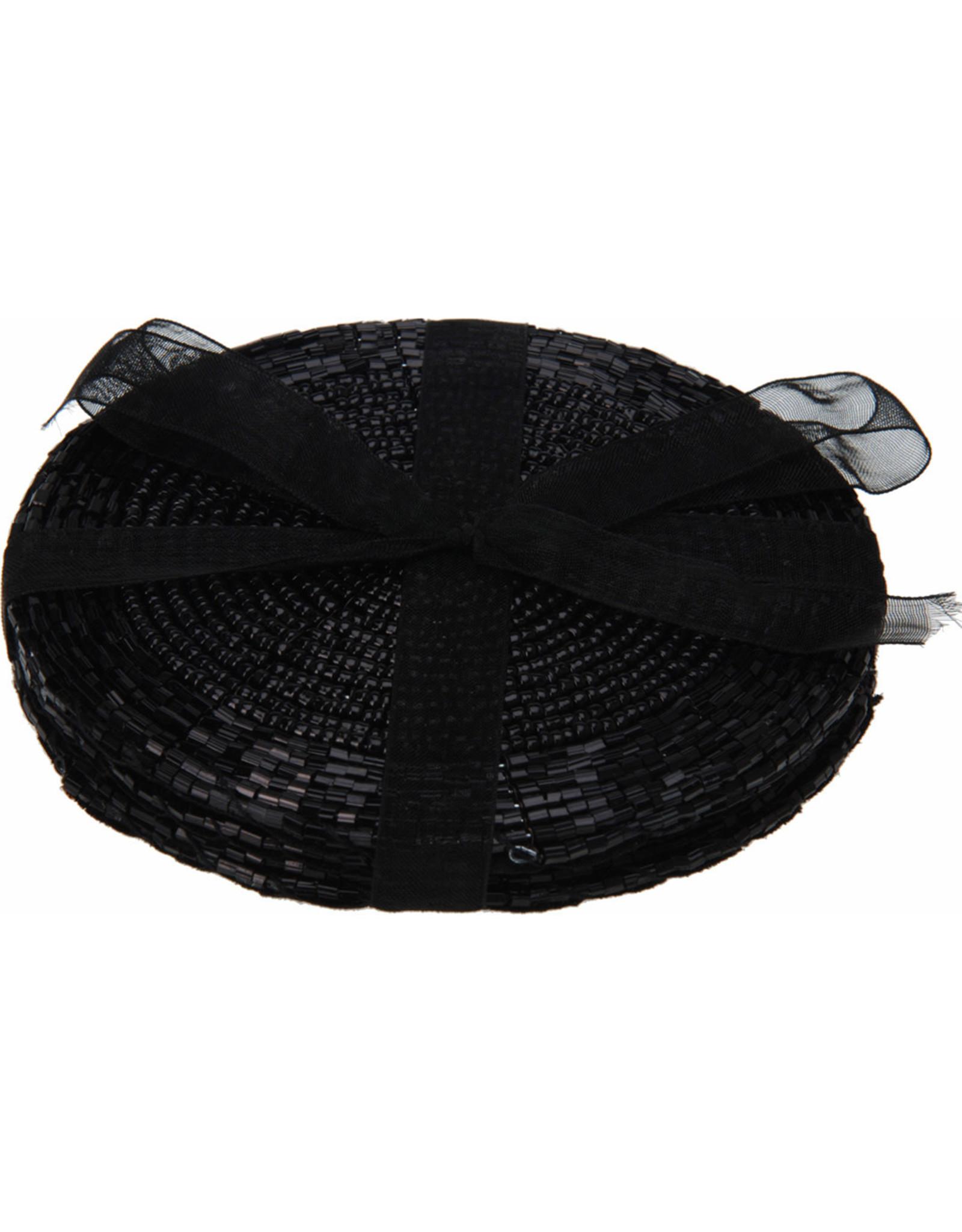 Koopman Coaster Set Beaded 4Pcs Black