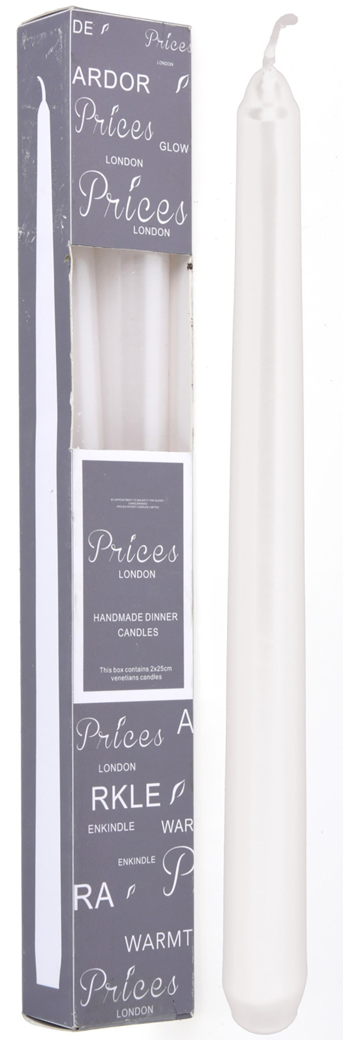 Koopman Dinner Candle 25cm 2Pcs White