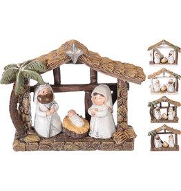 Koopman Nativity Scene 3 Figures 4Asst