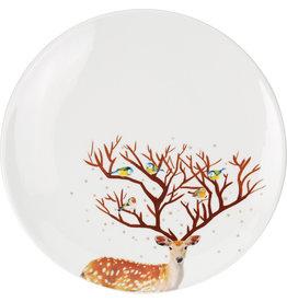 Koopman Plate With Reindeer Design