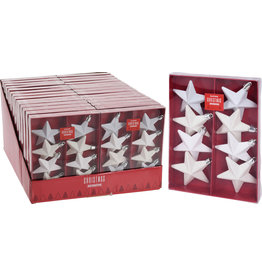 Koopman Star Hang Deco 65mm Set 8Pcs