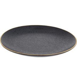 Koopman Plate 20cm Black with Gold