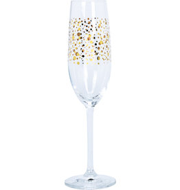 Koopman Champagne Glass with Gold Dots180ml Crystal